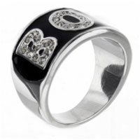 Sterling Silver Jewelry - size 7  cz boy rings Image.