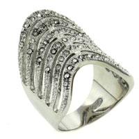 Rings - size7  cz stack curve ring Image.