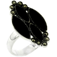 relation - four marquise onyx ring Image.