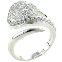 Rings - size7  cz twist ring Image.