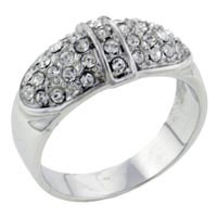 Rings - size7  cz bow ring Image.