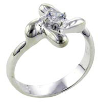 Rings - size7  round cut pinwheel ring Image.