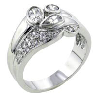 Rings - size7  multi cut cz ring Image.