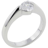 Rings - size7  heart cz sterling silver ring gift fashion jewelry Image.