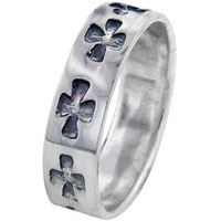 Rings - size 7  celtic cross band rings Image.
