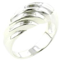 Rings - size7  sterling silver braid ring Image.