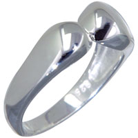 Rings - sterling silver open end ring size7  for fashion women and men Image.