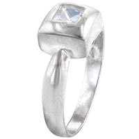 Rings - size7  square cz man sterling silver ring gift fashion jewelry Image.