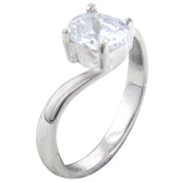 Rings - size7  oval cz wrap sterling silver ring gift fashion jewelry Image.
