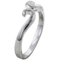 Rings - size 7  swirl sterling silver promise ring Image.