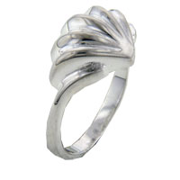 Rings - classic big shell rings 925  sterling silver promise anniversary ring Image.