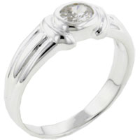 Rings - size7  oval cz detailed band sterling silver ring gift fashion jewelry Image.