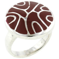 Mother Of Pearl Jewelry - red mother of pearl swirl rings Image.