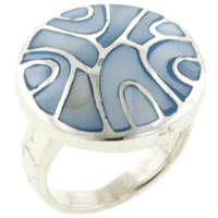 Mother Of Pearl Jewelry - blue mother of pearl swirl rings Image.