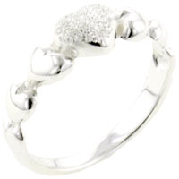 Rings - size7  heart band 925  sterling silver ring gift fashion jewelry Image.