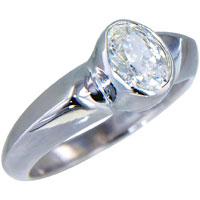 Rings - size7  oval cz solid sterling silver ring gift fashion jewelry Image.