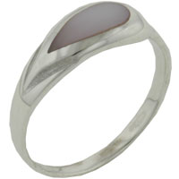Mother Of Pearl Jewelry - size 7  pink pearl rings Image.