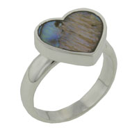 Rings - size 7  heart shape abalone rings Image.