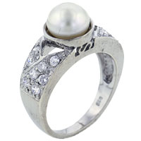 Mother Of Pearl Jewelry - size 7  white pearl rings Image.