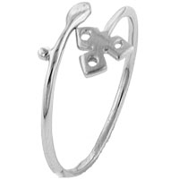 Rings - size7  sterling silver triskele ring Image.