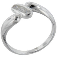 Rings - size7  round cz oval sterling silver ring gift fashion jewelry Image.