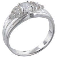 Rings - size7  oval cz marquise sterling silver ring gift fashion jewelry Image.