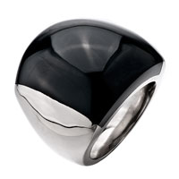 Gifts Center - size7  elegant black smooth round agate Image.