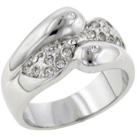 Sterling Silver Jewelry - swirl promise ring sterling silver cz engagement rings Image.