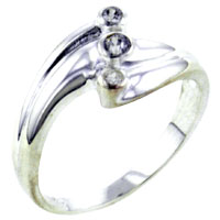 Rings - petitte stone cz sterling silver ring gift fashion jewelry Image.