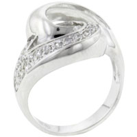 Sterling Silver Jewelry - size 8  cz swirl rings Image.