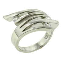 Rings - size 8  cz zigzag rings Image.