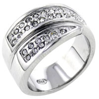 Rings - fashion size 8  clear cz wrap right hand ring 925  sterling silver Image.