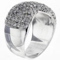 Rings - size 8  cz bow right hand ring Image.