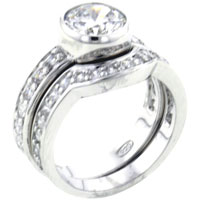Rings - size 8  round arch promise ring Image.