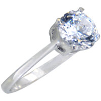 Rings - hot cathedral set solitaire 925  sterling silver cz engagement ring Image.