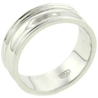 Rings - size8  classic 925  sterling silver jewelry band ring gift fashion Image.