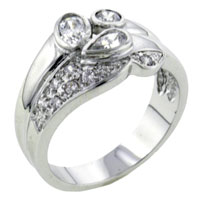 Rings - size8  multi cut cz ring Image.