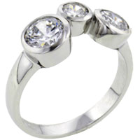 Rings - size8  varied round czs sterling silver ring gift jewelry fashion Image.