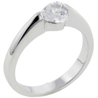 Rings - heart cz sterling silver ring gift fashion jewelry Image.