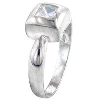Rings - size8  square cz man sterling silver ring gift fashion jewelry Image.
