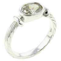 Rings - oval cut promise ring sterling silver cz engagement rings Image.