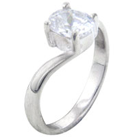 Rings - size8  oval cz wrap sterling silver ring gift jewelry fashion Image.