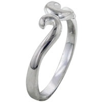 Rings - size 8  swirl sterling silver promise ring Image.