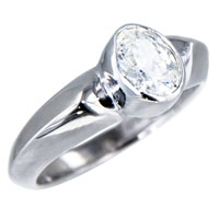Sterling Silver Jewelry - size8  oval cz solid sterling silver ring gift jewelry fashion Image.