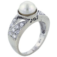 Mother Of Pearl Jewelry - size 8  white pearl rings Image.