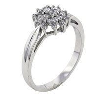 Rings - size8  star cz sterling silver jewelry ring gift fashion Image.