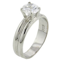 Rings - size8  round cz 925  sterling silver ring gift fashion jewelry Image.