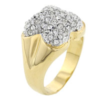 Rings - sparkling size8  clear cz butterfly polished ring in brass jewelry Image.
