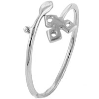 Rings - size8  sterling silver triskele ring Image.