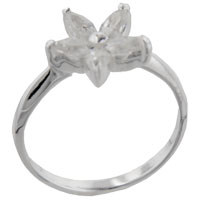 Sterling Silver Jewelry - size8  marquise cz arabella sterling silver ring gift fashion jewelry Image.